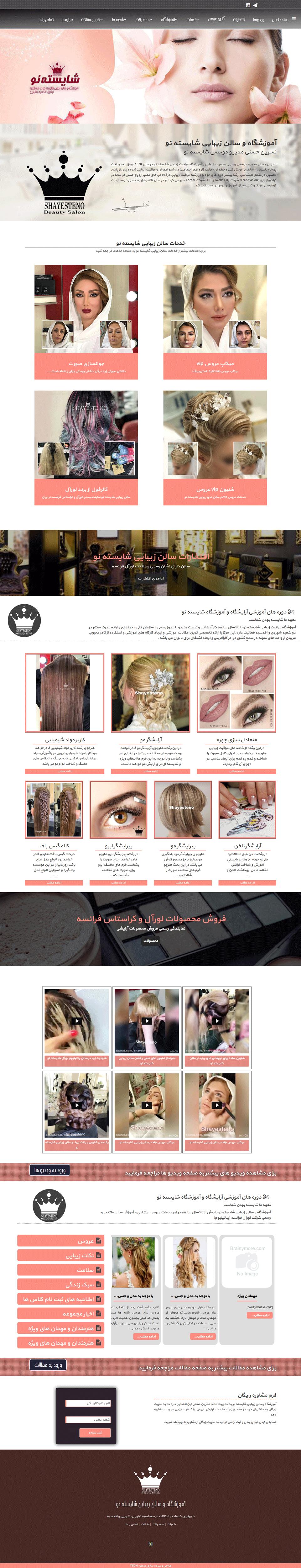 طراحی سایت شایسته نو